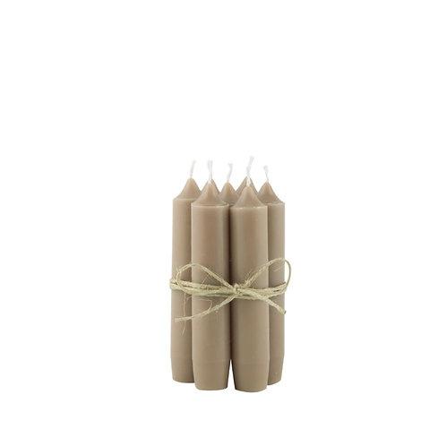 Kerze 11cm milky brown