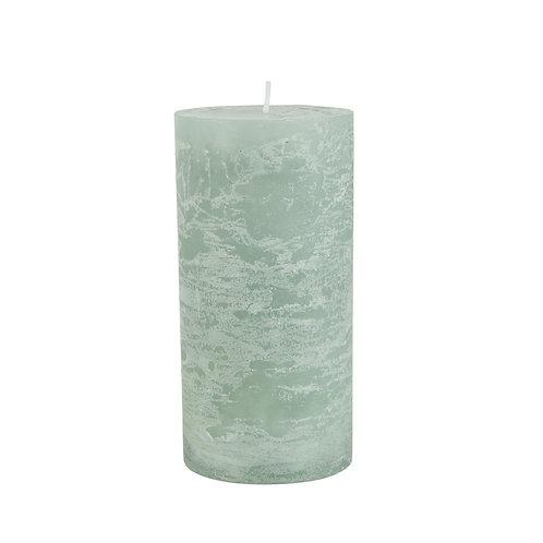 Rustikale Kerze 14cm Grün