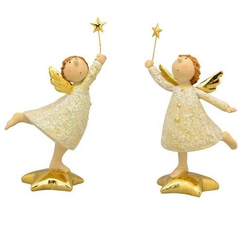 Engel stehend mit Stern