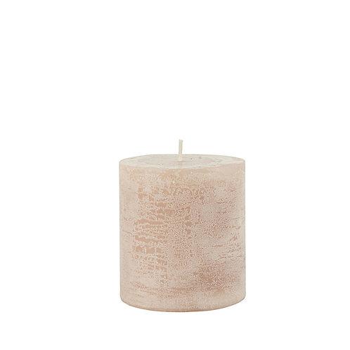Rustikale Kerze 7cm Rosa