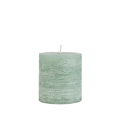 Rustikale Kerze 7cm Grün