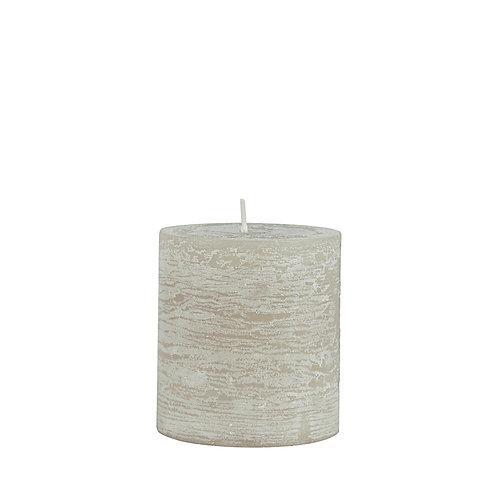 Rustikale Kerze 7cm Grau Natur