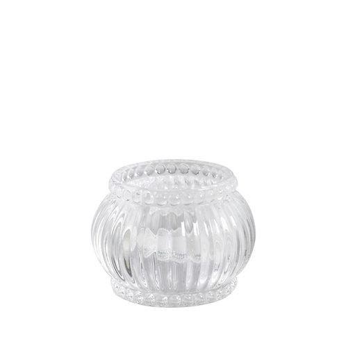 Teelichthalter Perlenkante