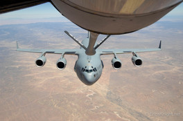 C-17 refuel from a KC-135 over Arizona.j