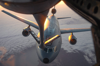 KC-10 Comes in for Fuel from a KC-135