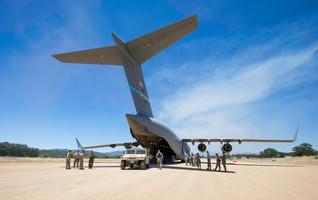 USAF C-17 Delivers a Humvee