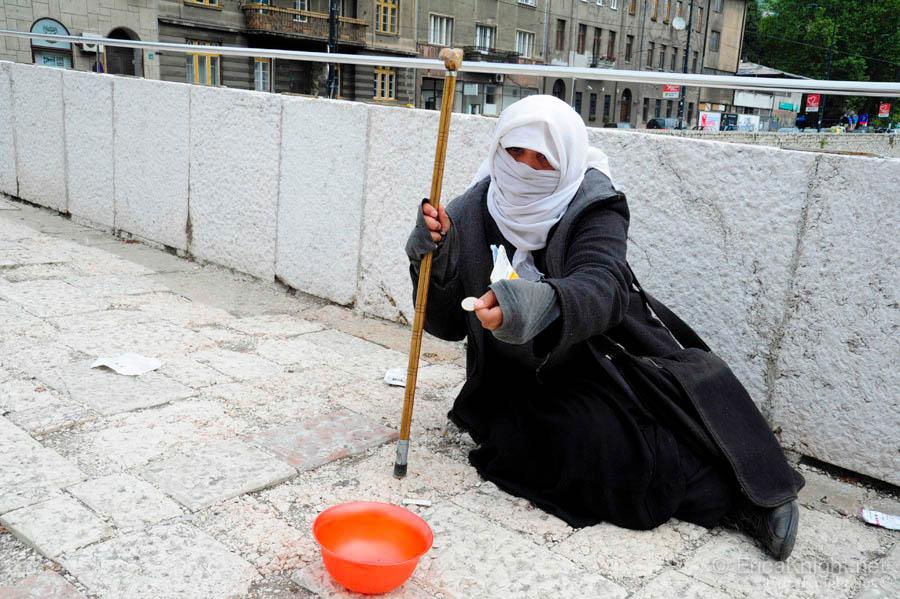 Homeless Woman - Sarajevo, Bosnia