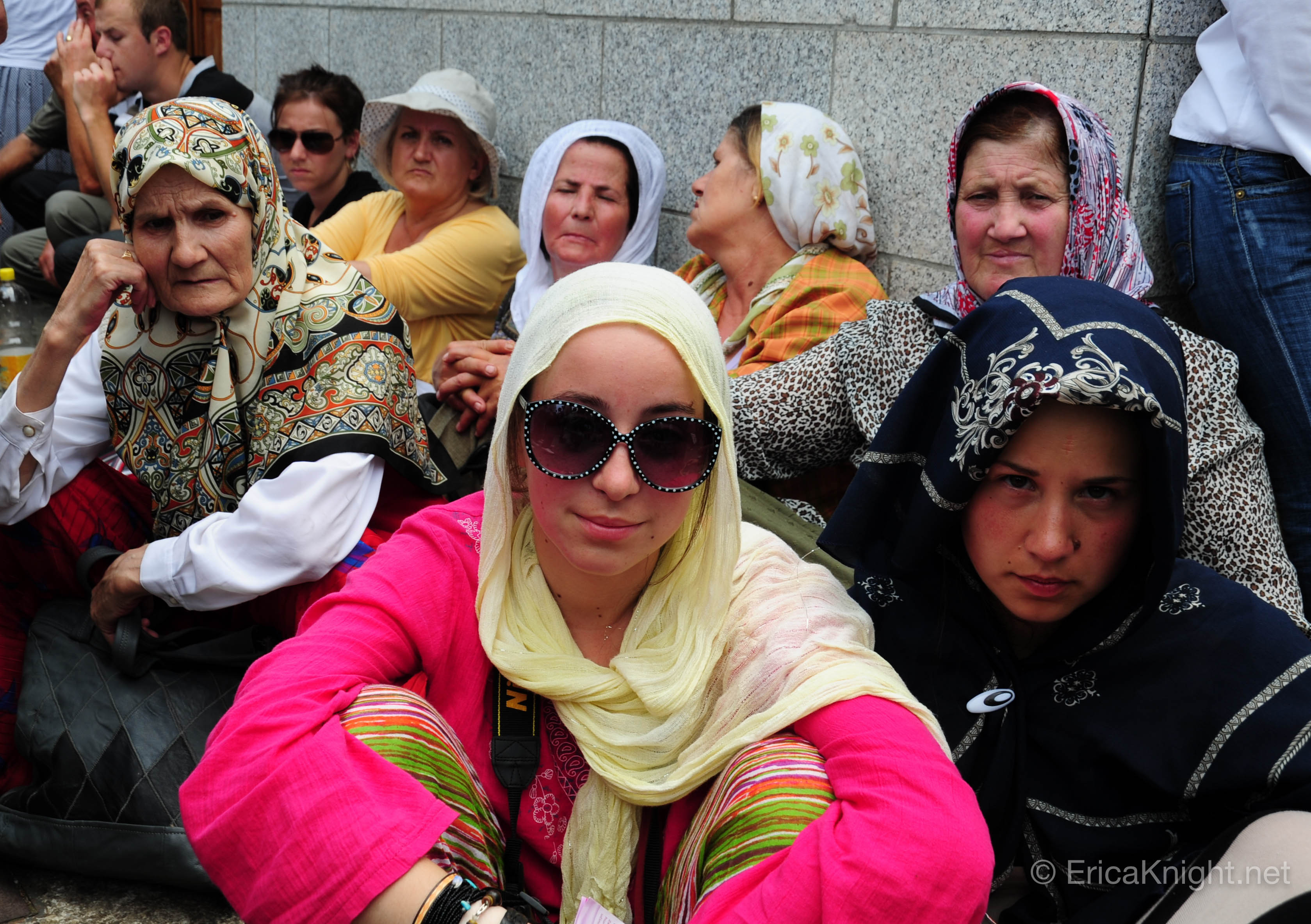 Women at 2011 Massacre Memorial - Srebrenica, Bosnia