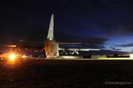 C-130 Nighttime Maintenance - England .j