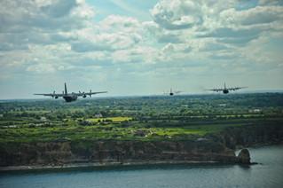 USAF C-130 Aircraft Participate in 70th