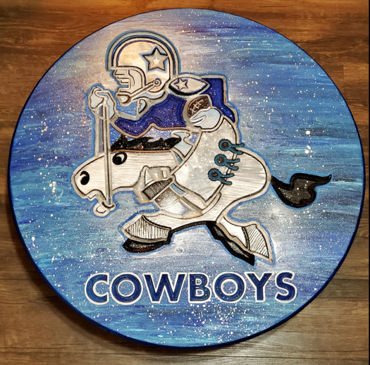 Cowboys Woodcarving