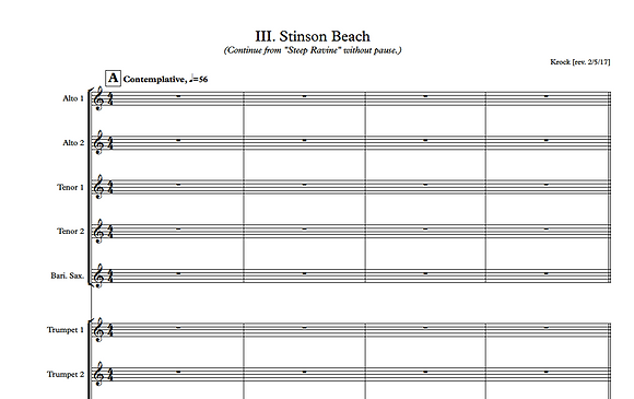 Stinson Beach- Full Score