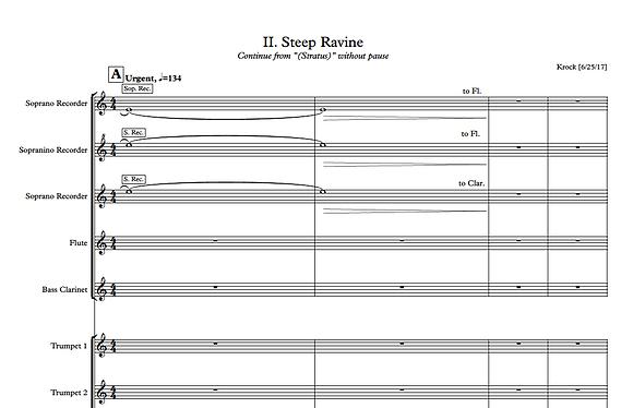 Steep Ravine- Full Score