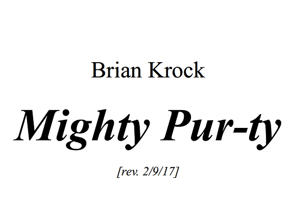 Mighty Purty- Full Score