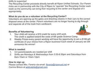 Recycling Center Needs Your Help!