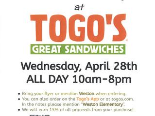 Weston Night at Togo's!!