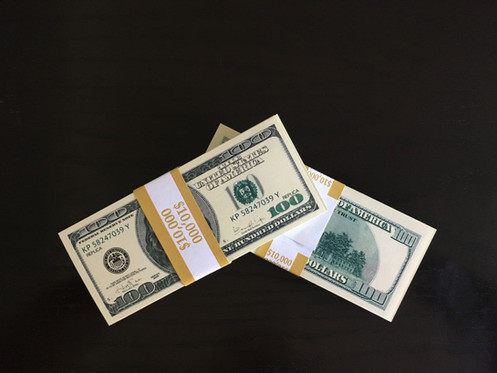 $10,000 New Serie 2000 100 Prop Money ALL FULL PRINT