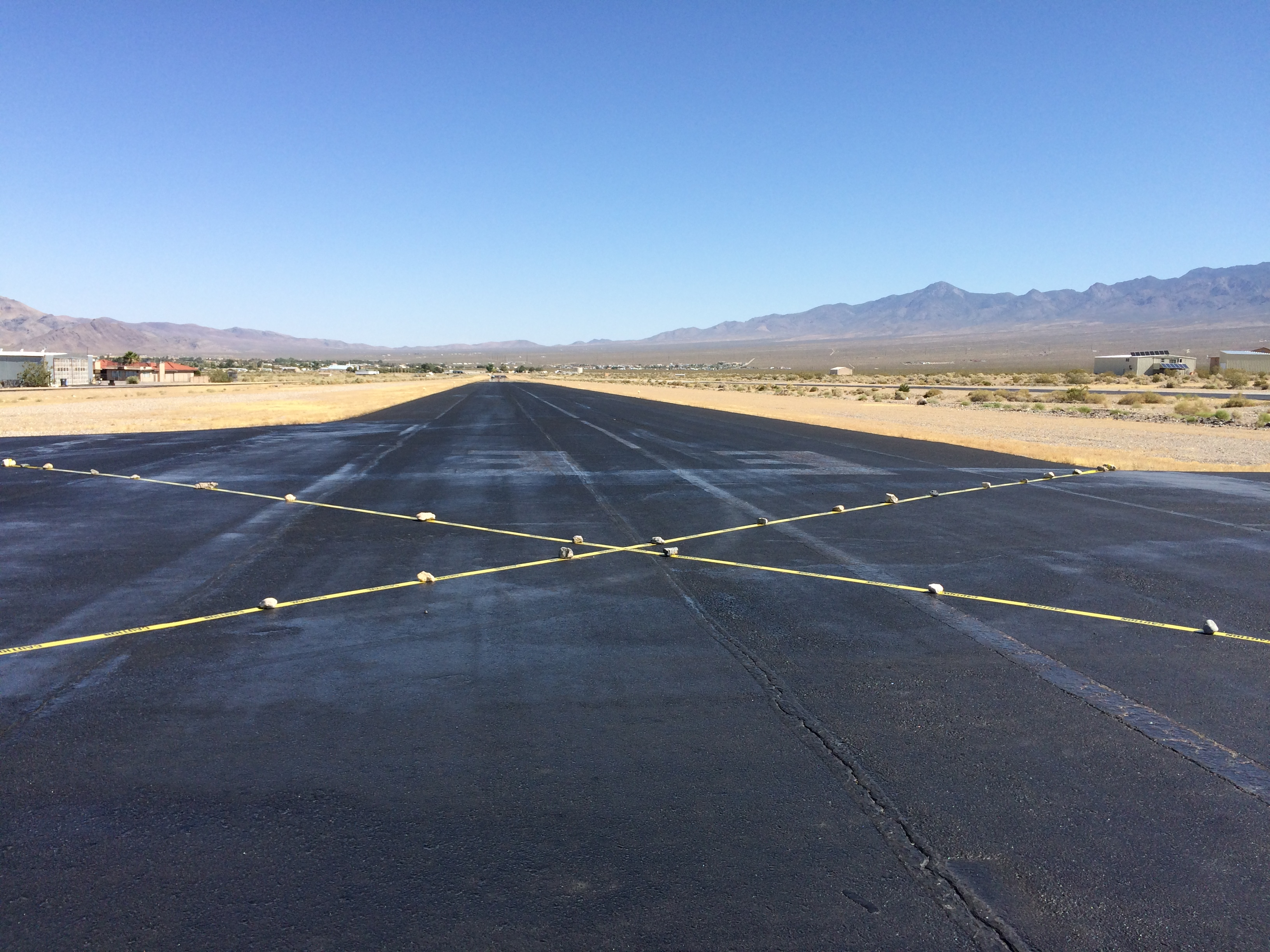 Runway closed for striping