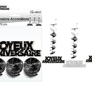 Guirlande suspensions accordéons