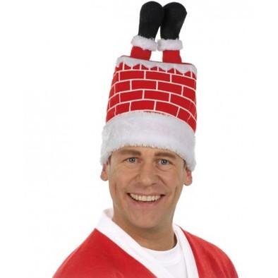 Bonnet Père Noël cheminée
