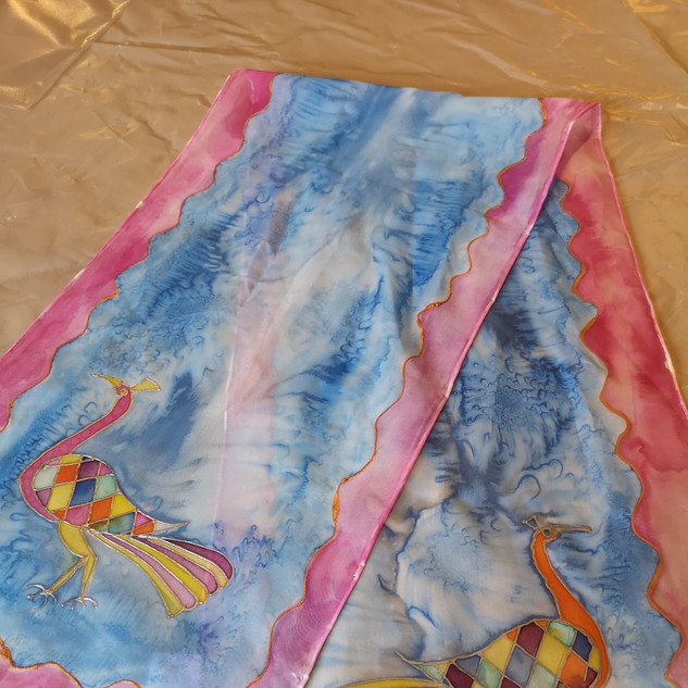 Bright and bold silk scarf