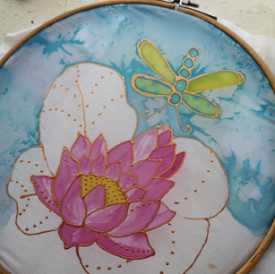 Water lily in progress