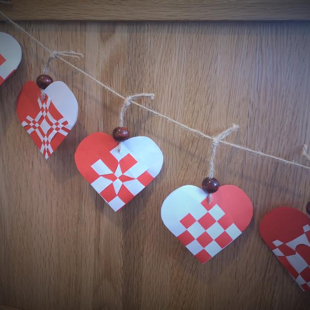 Danish Heart Garland