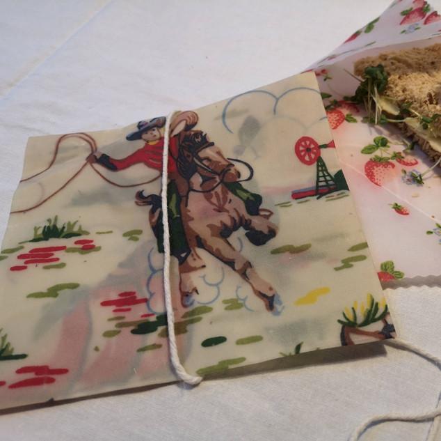 Beeswax sandwich bags