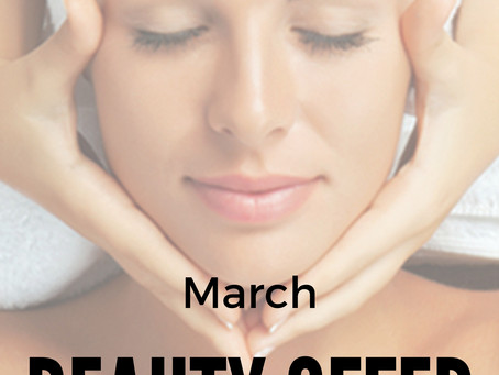 March Beauty Offer! - 50% Off All Facials!