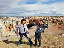 The Acuna kids at coal mine canyon in AZ