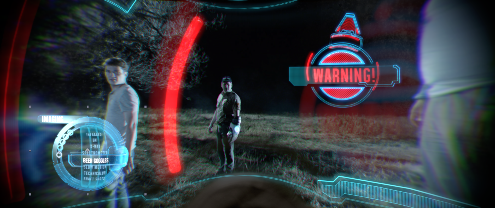 Warning Reticle style frame with HUD