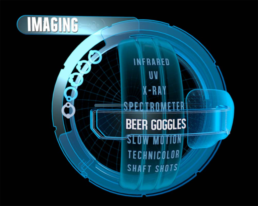 Large spherical menu full 3D exploration