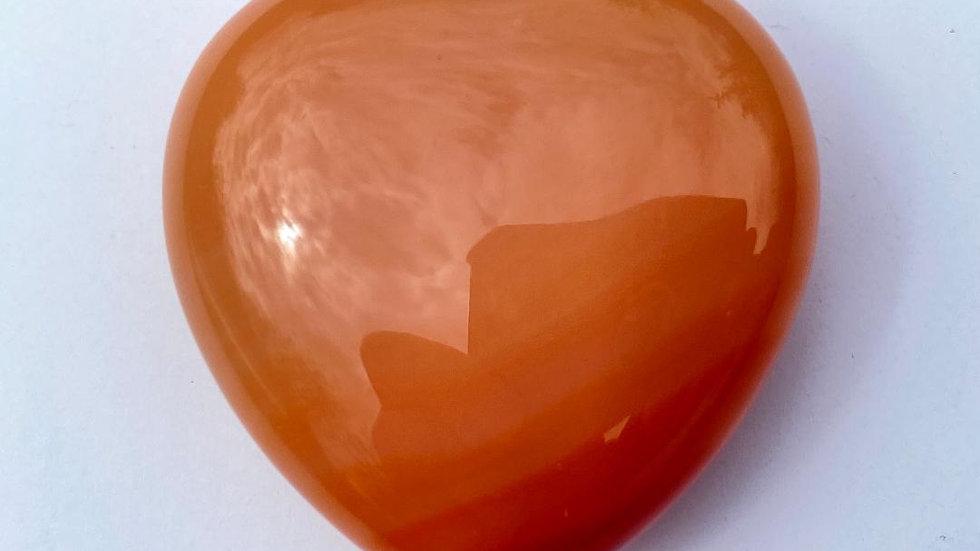 Pale Carnelian Pocket Heart
