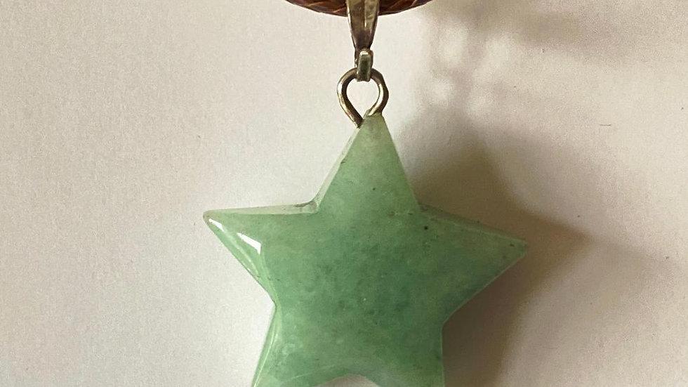 Aventurine Star Pendant