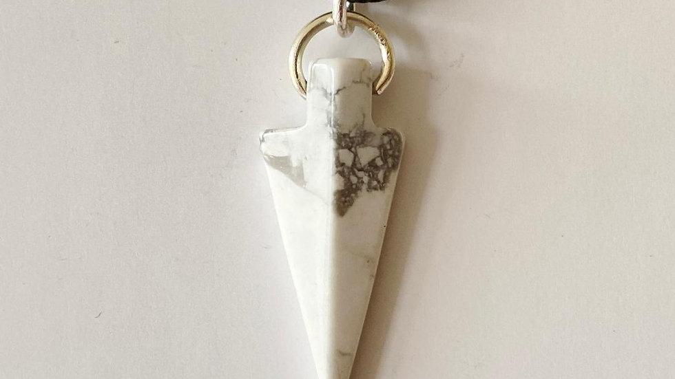 Howlite Spearhead Pendant