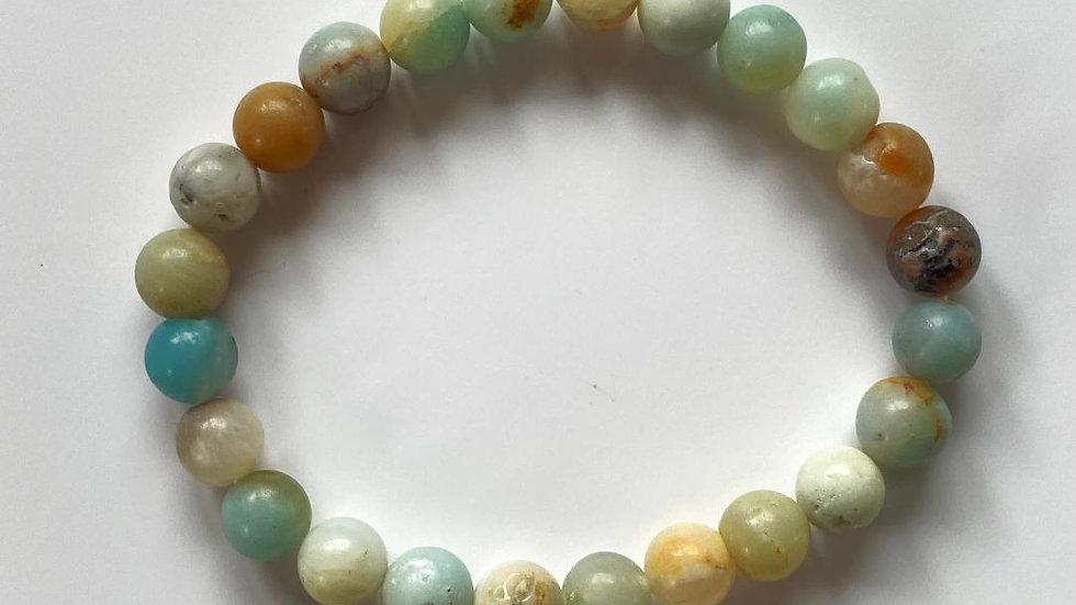 Caribbean Blue Calcite Bead Bracelet