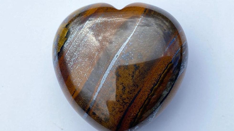 Tiger Iron Pocket Heart