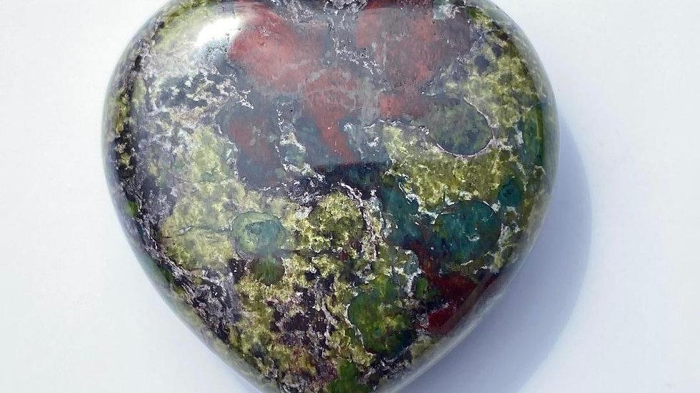 Dragon Blood Jasper Pocket Heart