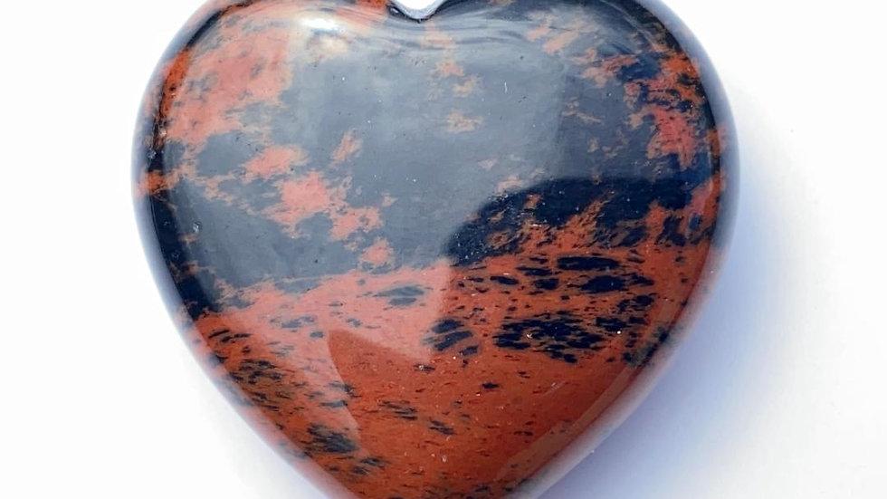 Mahogany Obsidian Pocket Heart