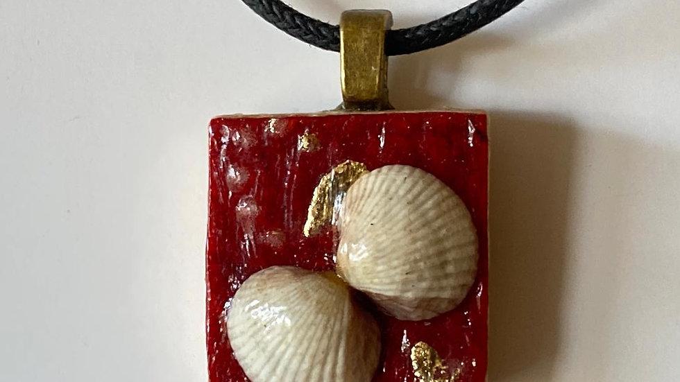 Seashell Pendant on a Scrabble Tile