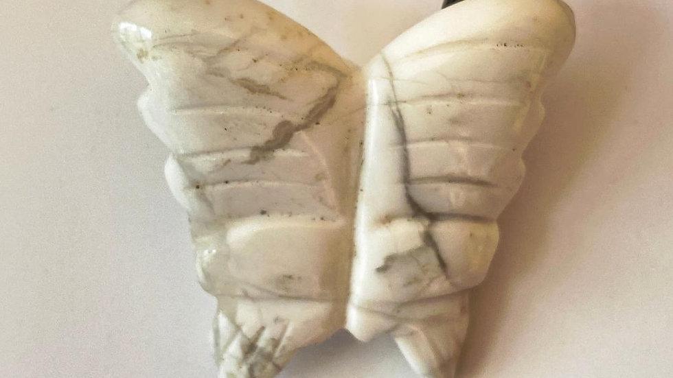 Howlite Butterfly Pendant
