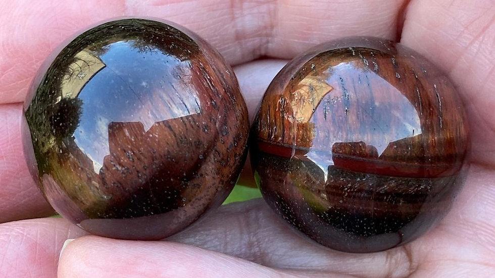 Red Tigers Eye Pocket Sphere
