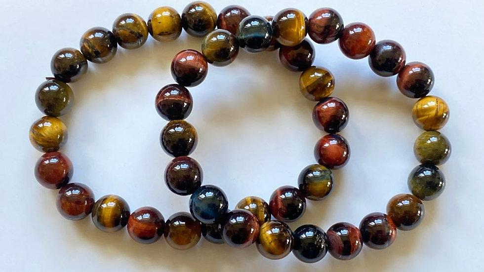 Mixed Tiger Eye Bead Bracelet