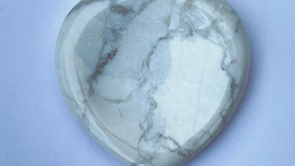 Howlite Thumb Stone/ Worry Stone
