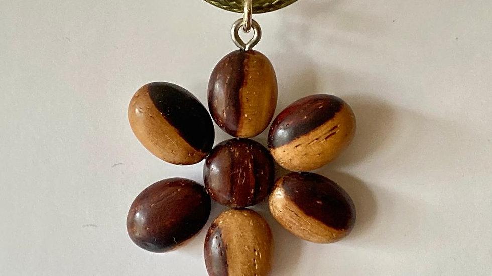Flower Wood Pendant