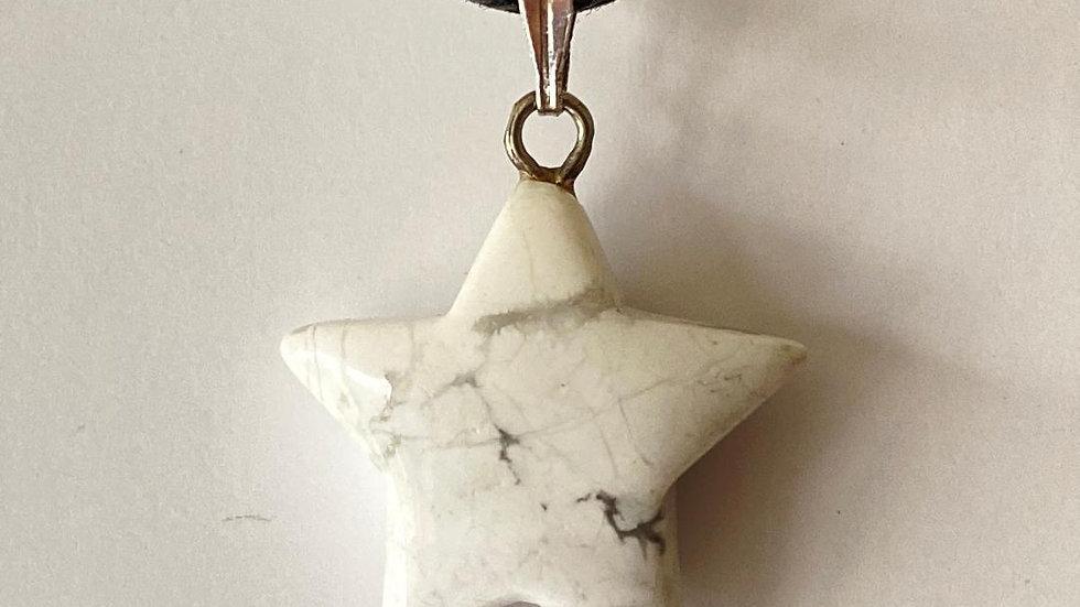 Howlite Star Pendant