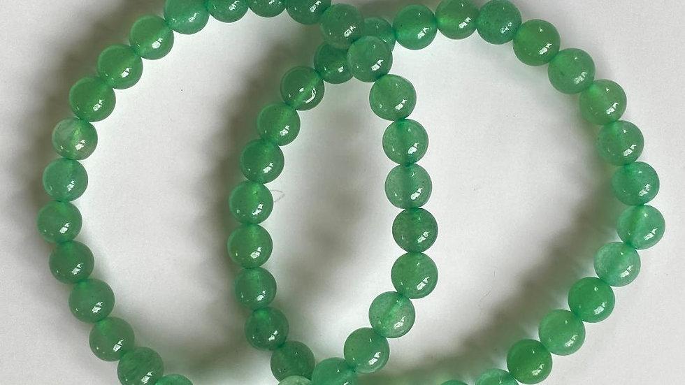 Green Aventurine Bead Bracelet