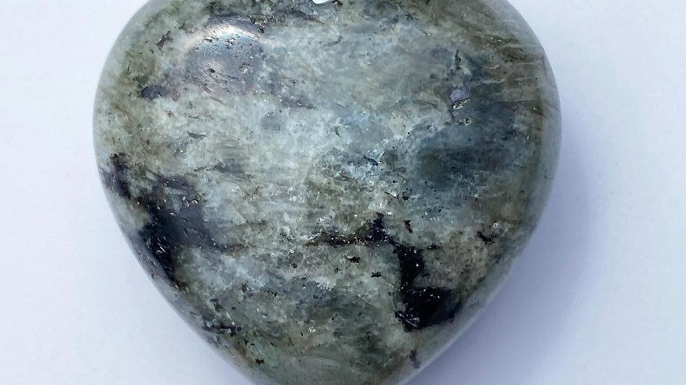 Pale Labradorite Pocket Heart