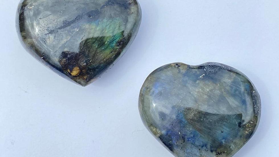 Dark Labradorite Pocket Heart