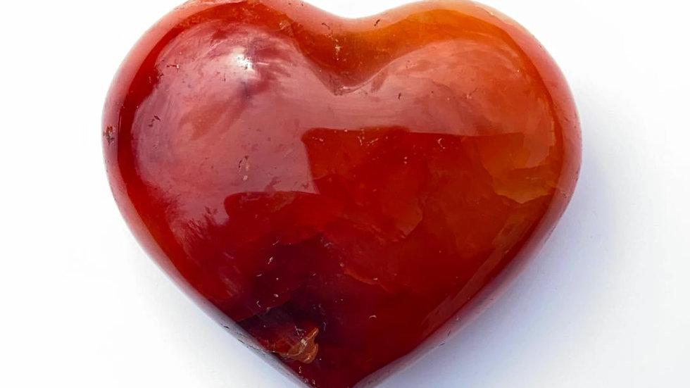 Dark Carnelian Pocket Heart